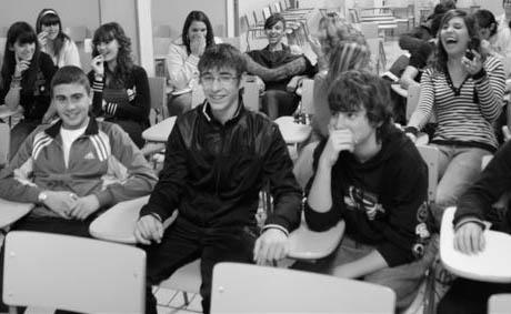 Los alumnos que formaban el público